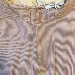 Madewell pin stripped tie t- shirt